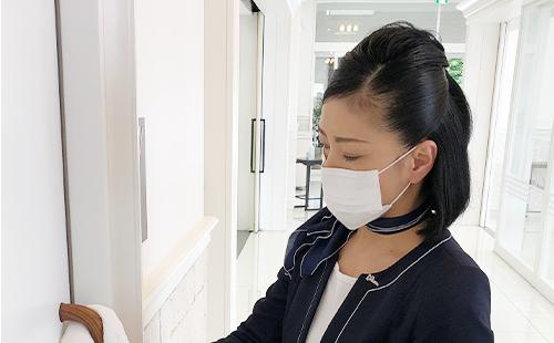 従業員のマスク着用の徹底